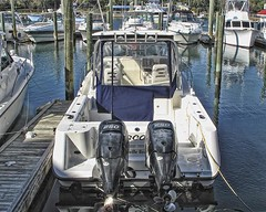 500 HORSEPOWER (NC Cigany) Tags: marina boat nc wilmington wrightsvillebeach outboardmotors 20111204 0651wilmington