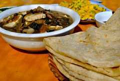 flat bread and doufu glass noodle stew (Ian Riley) Tags: china county food glass bread soup restaurant asia flat chinese noodles hebei shan wulong doufu mancheng