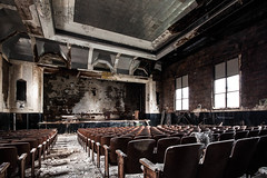 Pep Ralley- Explored! (jeremy marshall) Tags: school urban abandoned education pittsburgh decay stage explore seats l pianos elementary auditorium urbex