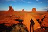 Monument shadow :D (Robyn Hooz) Tags: sunset shadow arizona portrait monument self canon utah tramonto desert ombra reserve sigma valley autoritratto navajo mesas deserto buttes indiani riserva 600d 1020exhms