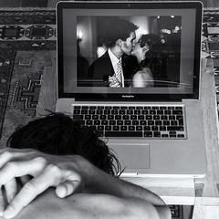 Day 166 (Michael Rozycki) Tags: wedding portrait apple self canon project computer kiss sad image personal laptop screen 7d past regret 1755