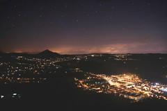 everything is illuminated (Helena Barker) Tags: mountain rio night river lights luces noche view hill pueblo monte vistas colina mio vilanova tecla cerveira goian