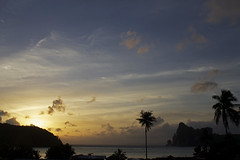 Sunset, Phi phi (Jade Higman) Tags: ocean travel sunset sea sky sun holiday tree water clouds canon landscape thailand island coast phiphi palm palmtree thai phuket
