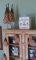 Celebrate your Independence! (luvehorror) Tags: old vintage display antique interior lincoln fourthofjuly americanflags independenceday july4th2012