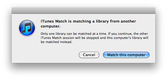 iTunes Match is matching a library from another computer.png
