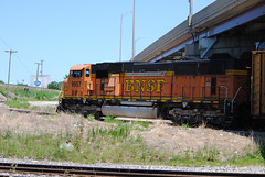 BNSF AR IHB SC_0001 7-8-12 (eyepilot13) Tags: railroad illinois trains bnsf locomotives emd ihb 9957 sd70mac southconnector autoracktransfer lagranbge