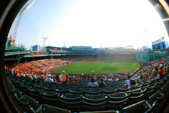 (kdem) Tags: world park city trip travel red sky usa green boston clouds america ma lights us nikon audience baseball stadium massachusetts sox redsox fisheye fans fenway catcher mass fenwaypark pitcher bostonma bostonredsox beantown fisheyelens youkilis d40 basemen nikond40 nikon40