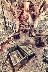 Eastern State Penitentiary cell on a hot summer day (daniel_gafanhoto) Tags: wood usa green texture philadelphia canon grit concrete bed box furniture decay seat grunge debris skylight cell atlantic east prison frame 7d nik philly fairmount grime stool derelict hdr joint easternstatepenitentiary penitentiary urbex