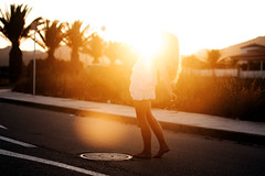 (Sophia Alexis) Tags: trees light sunset red portrait colors girl yellow self happy spain you 365 asphalt breathtaking