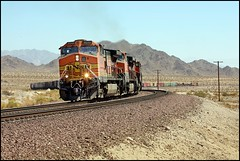 Westbound At East Siberia - 2.0 (greenthumb_38) Tags: train desert quality siberia mojave locomotive mojavedesert mohave manifest canon40d jeffreybass