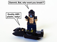 Quality Plastic (Oky - Space Ranger) Tags: dark dc funny break lego quality bat super plastic batman knight heroes universe megabloks abs bane rises
