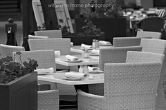 woven chairs & tables setting (WITHIN the FRAME Photography(4 Million views tha) Tags: outdoors restaurant chairs tables woven setting eos7d