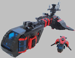 Spyrius Snooper - Title (.Jake) Tags: lego space communication stealth spaceship frigate radar stealthship spyrius