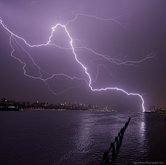 NYC lightning - Single Picture - unaltered (Jason Pierce Photography) Tags: city nyc sky urban jason storm electric skyline night reflections river landscape photography jerseycity cityscape bright manhattan cityscapes bolt pierce bolts hudson lightning scape 72612 newyorkcityphotography july2012 nyccityscapes newyorkcitycityscapes