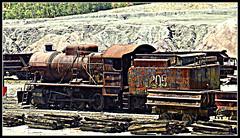 Mine steam loco (Marta S. Gufstasson) Tags: old abandoned ancient mine decay smoke loco steam mining mina locomotive gauge hdr antiguo vapor locomotora minero dampflok abandonada