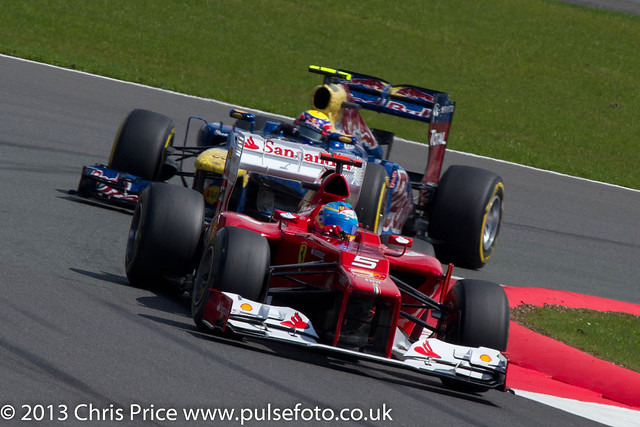 Fernando Alonso and Mark Webber Lap 2