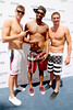 Conor Dwyer, Cullen Jones, Ryan Lochte swimmers celebrate their Olympic success by hosting a day at Azure Pool inside The Palazzo Resort Hotel Casino Las Vegas, Nevada