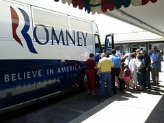 Romney Bus and Republican Team Meet & Greet