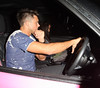 Leandro Penna and Katie Price leave Benihana Sushi restaurant London, England
