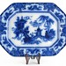 "36. ""Ning-Po"" 19th century Flow Blue Platter"