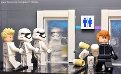 Waiting in a queue on Monday (Phil Korn) Tags: light coffee photoshop fun toys photography star starwars nikon funny order force lego stormtroopers first explore empire wars minifig monday legostarwars the afol awakens minifigues philkorn21