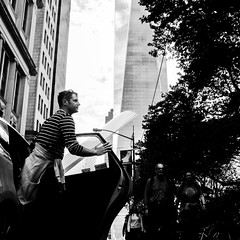 SUPERMAN NYC (Humanhands) Tags: nyc urban blackandwhite newyork monochrome fuji candid streetphotography streetlife moment decisive fujix100t