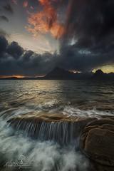 Flowover (Dave Brightwell) Tags: ocean sunset sea sky seascape mountains skye water canon flow photography scotland isleofskye tide scenic scottish loch cuillins 6d elgol leefilters formatthitech nisifilters vanguardphotoengland