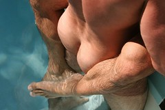 Grasping (gintry) Tags: hairy pool legs embrace