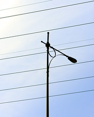 Interference (DaveLawler) Tags: light lamp lines silhouette lamppost wires infrastructure electrical interference