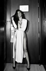 White Dress - Visitor in my room (Jay Aremac) Tags: door portrait woman sexy girl female asian thailand breasts shoes erotic highheels titties dress legs boobs bangkok indoor thai frau schuhe beine tuer busen erotisch kleid weiblich asiatin thailaenderin