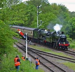 LMS Class 2 No.46521 and GWR Modified Hall Class No.6990 Witherslack Hall (phantomwk) Tags: steamtrain steam steamlocomotive train preservedrailway greatcentralrailway gcr gala steamengine