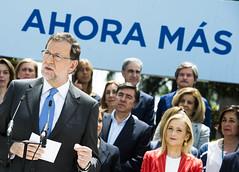 Mariano Rajoy durante su intervencin en la presentacin de los candidatos (Partido Popular) Tags: rajoy pp marianorajoy partidopopular 26j eleccionesgenerales cospedal mariadolorescospedal cristinacifuentes