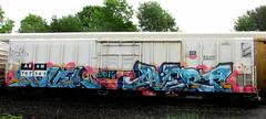 novel - avert (timetomakethepasta) Tags: novel avert iok freight train graffiti armn reefer union pacific
