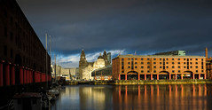 Albert Dock, Liverpool (stephenbryan825) Tags: liverpool buildings dome threegraces albertdock royalliverbuilding dramaticlight portofliverpoolbuilding selects