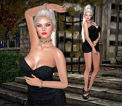 You're Gonna Have To Face It (lauragenia.viper) Tags: black sexy blonde mistress mayfly littleblackdress euphorie secondlifefashion thethriftshop tootyfruity lumipro chopzuey addictedtoblack imageessentials rezology