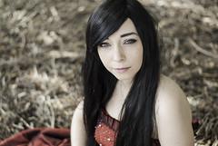 Amlie Portrait (Xavier R. photography) Tags: red portrait colour cute girl 50mm amazing nikon colours bokeh femme lumiere d200 18 fille piqu reflecteur