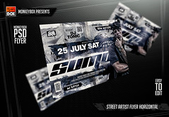 Street Artist Flyer Horizontal (AndyDreamm) Tags: artist black city club dj electro friday fridays graffiti grunge hiphop money monkeybox music night party rap rappers speakers street template texture underground urban whisky white