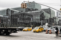 Javits (PAJ880) Tags: new york nyc west glass traffic side walls cabs javits ctr