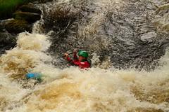 Kayak-Tryweryn White Water (Howard 'H' Pimborough) Tags: howardhpimborough canon7d canon24105mml iso burst kayak whitewater tryweryn river afon northwales cymru rapids playboat bala llyn celyn llyncelyn raw foam water waterfall