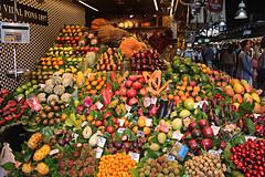 Fruit Stall in la Boqueria Barcelona (alison's daily photo) Tags: barcelona fruit spain market stall laboqueria