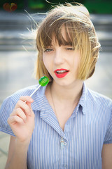 Wink and a Lollipop (Keltron - Thanks for 7 Million Views!) Tags: shorthair lollipop cutegirl prettygirl moldova beautifulgirl aleksandra sugarsugar youngmodel easterneuropeangirls