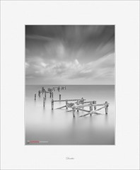What Remains (Scott Howse) Tags: uk longexposure sea england sky blackandwhite bw water monochrome clouds coast nikon dorset englishchannel lamanche nd1000 leefilters