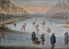 "Lijtens, Gijsbrecht ""Winter Landscape with Skaters"" (detail) , early 17th century (Tatiana Koh) Tags: art museum painting saintpetersburg hermitage flanders"