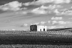 Abandoned (Francesco Impellizzeri) Tags: white black monochrome clouds landscape sicily trapani