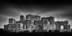 The Interlace, Singapore (mcartmell) Tags: longexposure sky blackandwhite bw white black mike monochrome clouds outdoors singapore sony explore condo nd daytime condominium interlace singapura ndfilter cartmell a6000 theinterlace 16mm50mm