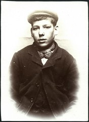 Alexander George, arrested for stealing a purse (Tyne & Wear Archives & Museums) Tags: portrait youth interesting young historic criminal crime cap mugshot unusual theft policestation edwardian stealing prisoner northshields northtyneside norfolkstreet