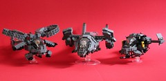 DARKWATER Aircraft Collection (✠Andreas) Tags: lego aircraft collection darkwater vtol gunship dropship aircraftcollection legogunship darkwatergunship