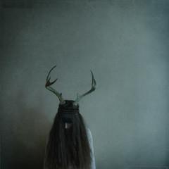 last of her kind (elle.hanley) Tags: portrait animal self hair square antlers texturebylesbrumes vivadeva ladymisselle