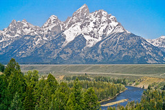 Snake River Overlook (bhophotos) Tags: travel trees usa snow mountains film nature river landscape geotagged spring pentax snakeriver wyoming peaks tetons overlook jacksonhole grandtetonnationalpark p3n coth gtnp coth5