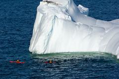 Round the Berg (Tk_White) Tags: ocean newfoundland boats labrador sony 7 iceberg kayaks nex vidi quidi 55210mm